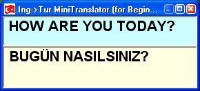 Ücretsiz IngTur Mini Translator Çeviri Programı