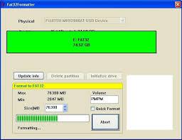 Fat32 Formatter Usb Biçimlendirme Programı