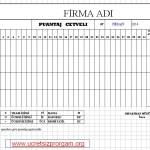 Excel Eksik Gün Puantaj Bildirim Formu