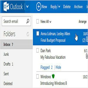 outlook android e posta