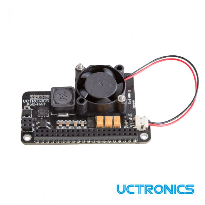 Poe Hat For Raspberry Pi 4 Uctronics Mini Power Over Ethernet Expansion Board For Raspberry Pi