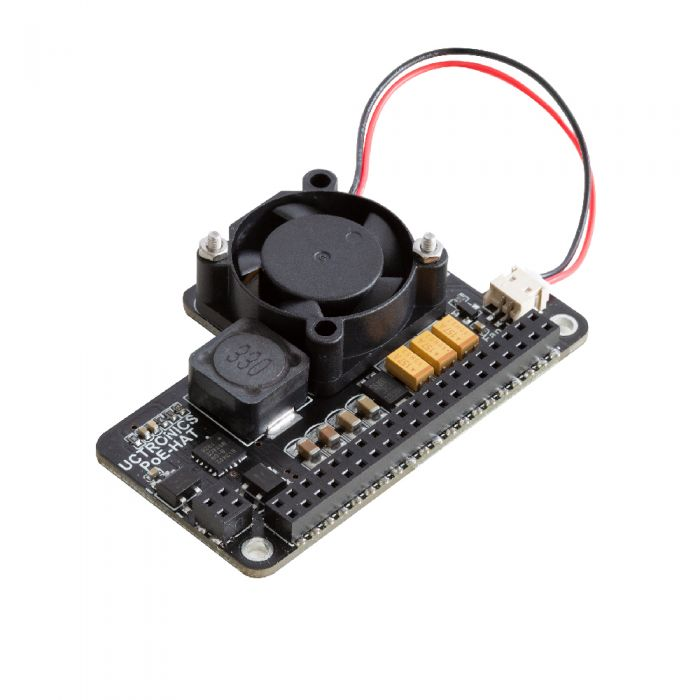 Poe Hat For Raspberry Pi 4 Uctronics Mini Power Over Ethernet Expansion Board For Raspberry Pi 4 B 3 B With Cooling Fan