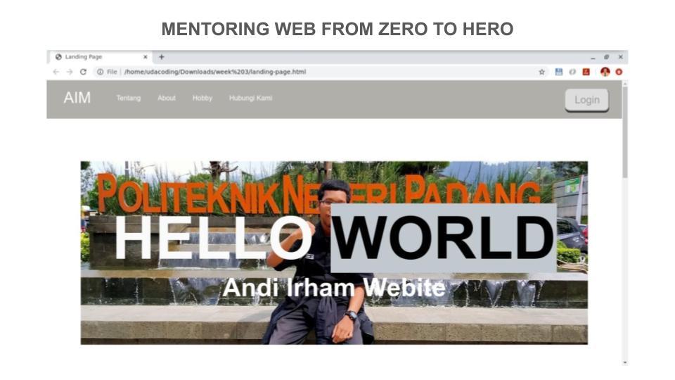 9 Portofolio Peserta Mentoring Web hingga Pekan ke – 3