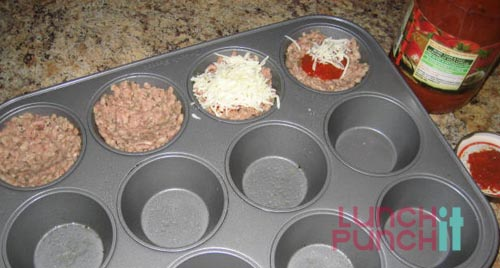 mini italian meatloaf