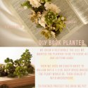 DIY book planter from wednesday
