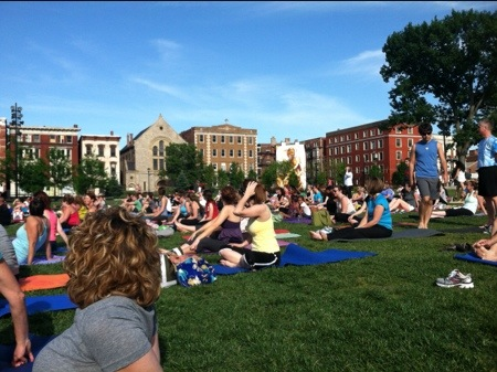 Yoga on the Green Cincinnati