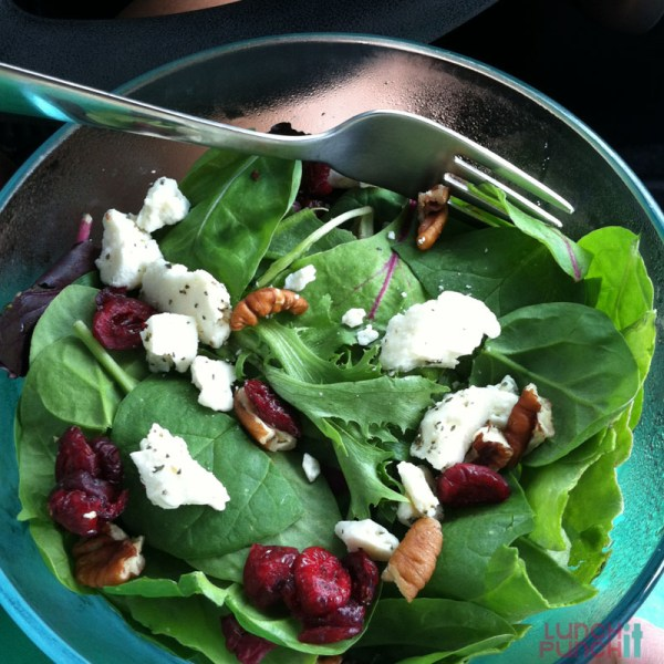 spinach salad packed by LunchItPunchIt.com