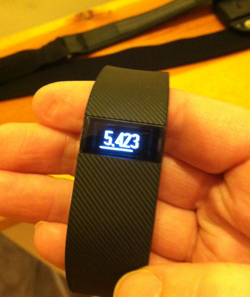 Fitbit Charge step count display at udandi.com