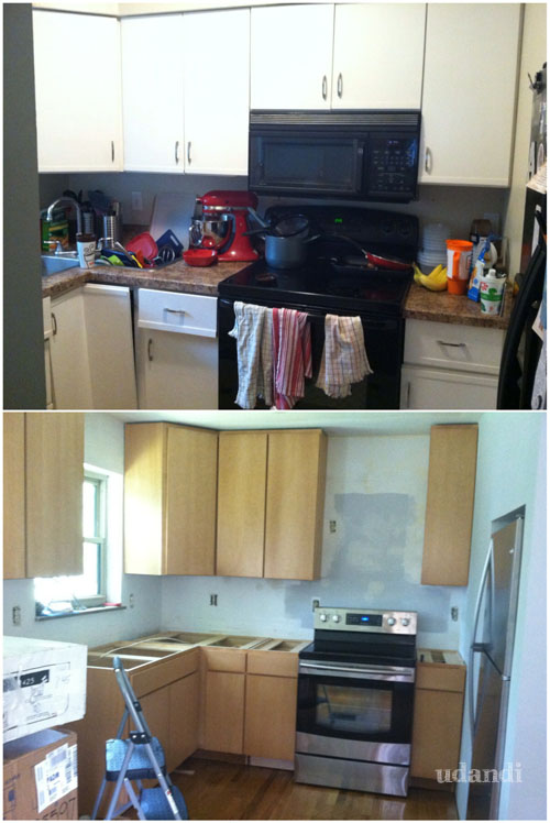 #udandikitchen before and after