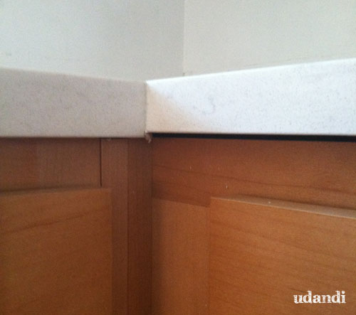 #udandiKitchen uneven counter from #HomeDepot