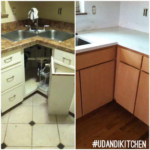 @udandiKitchen remodel before and after