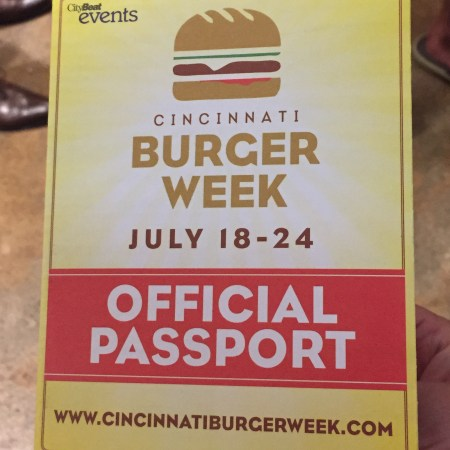 Cincinnati Burger Week 2016 passport