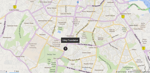 uday foundation map