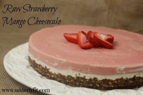 Raw Strawberry Mango Cheesecake