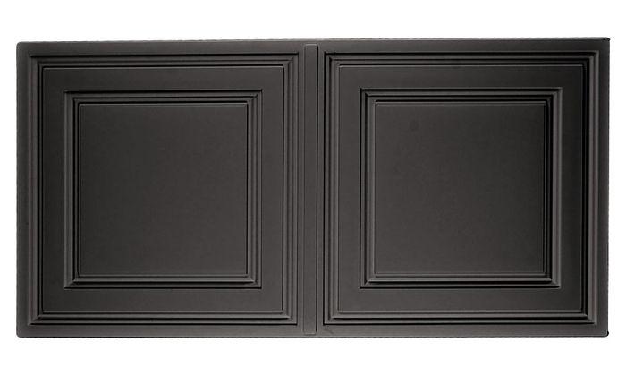 stratford vinyl ceiling tile black 2x4