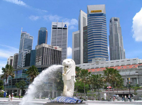Patung Merlion Singapore