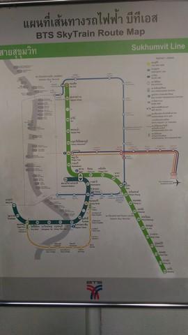 Bangkok Trip - Peta Bangkok Skytrain