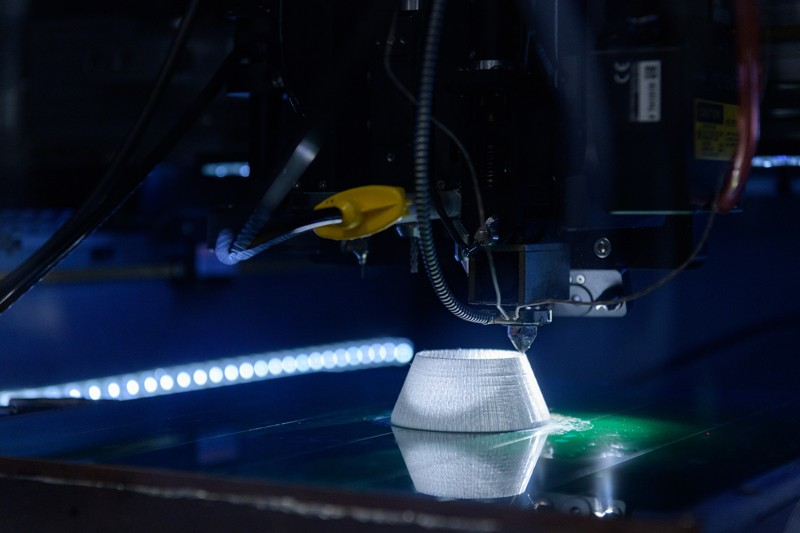 """The Advanced Manufacturing Technology Center, within the MakerGym, will be a place for pioneering research in additive manufacturing — a field where UD is at the forefront. In this process, products are built by depositing, or """"adding,"""" layer upon layer of material."""