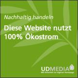 100% Ökostrom-Hosting durch UD Media