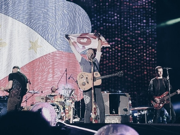 Coldplay performing in the Philippines