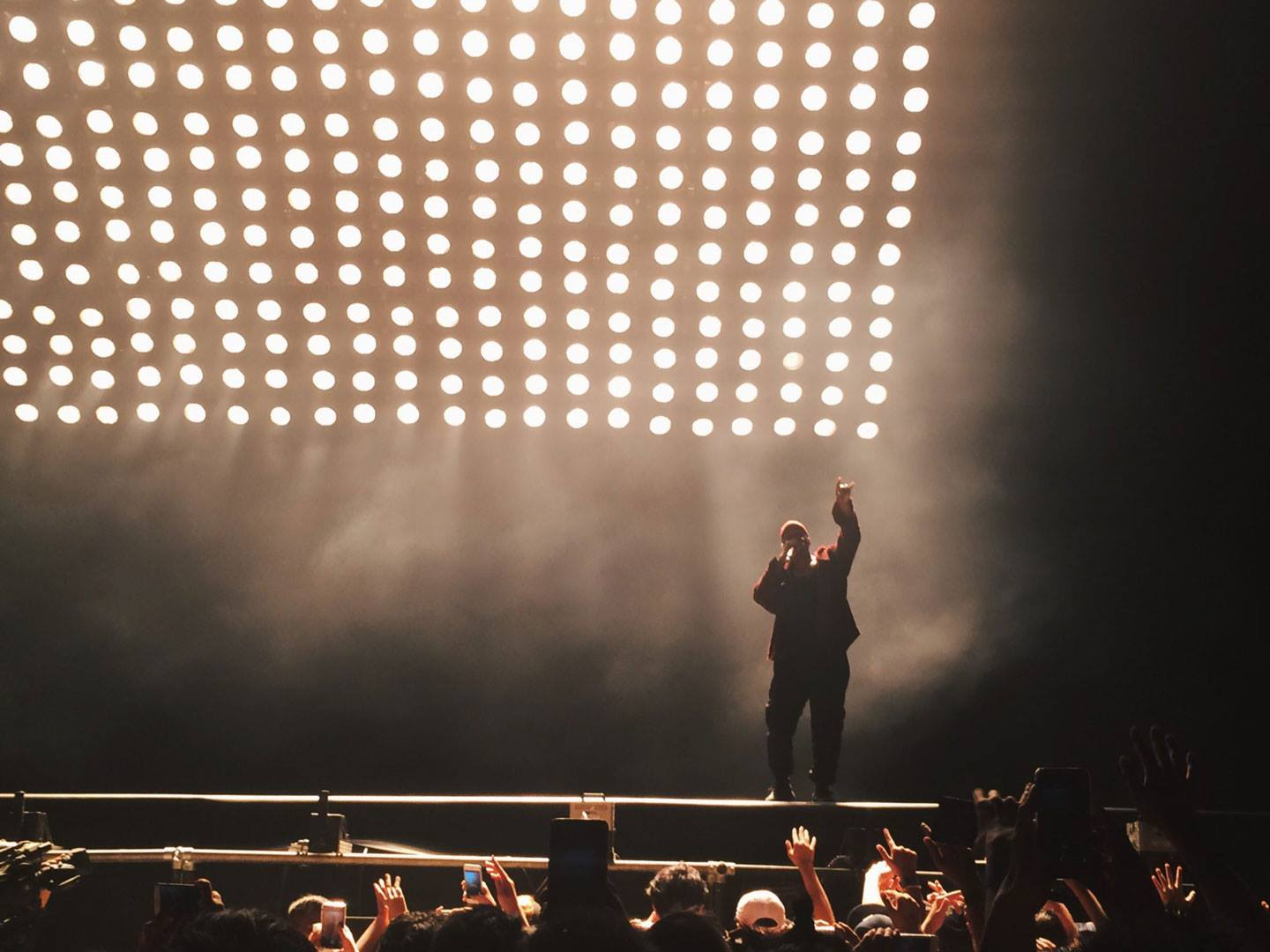 Kanye West performing live at Paradise International Music Festival