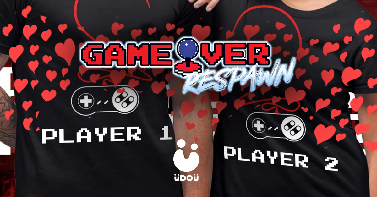 Game Over Valentines gamer couples