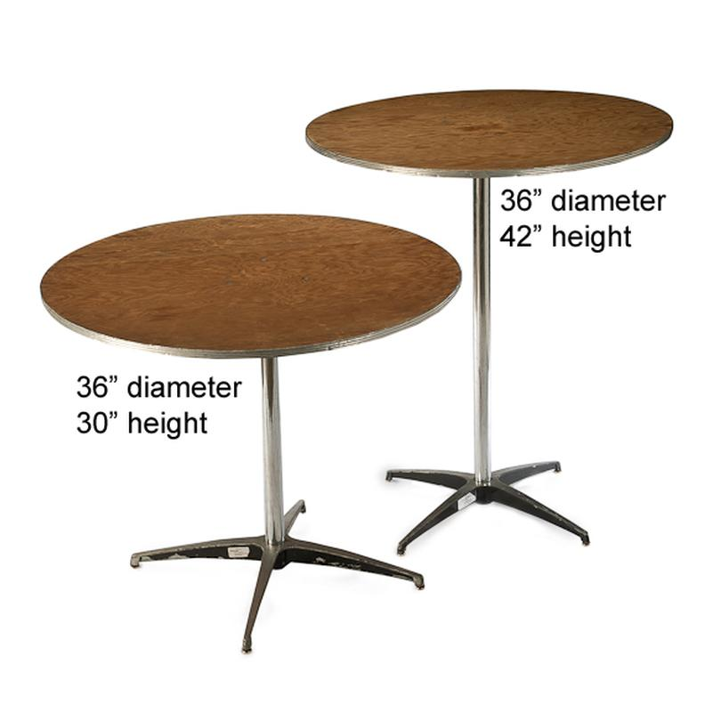 36 round 42 tall cocktail table
