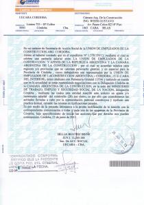 Carta documento UECARA DEL INTERIOR