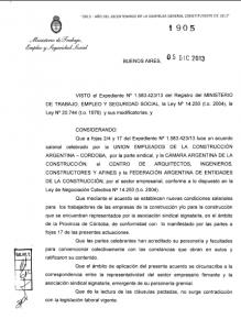 Acuerdo homologado diciembre 2013