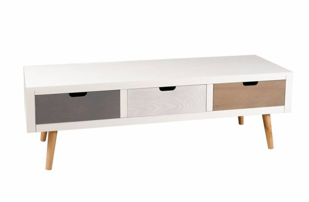 meuble tv ikea bois et blanc unixpaint. Black Bedroom Furniture Sets. Home Design Ideas