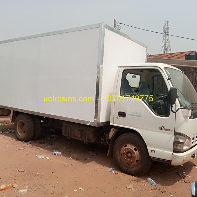 Refrigerated and Insulated Fibreglass Truck Body Building in Kampala - Uganda - uelresins.com