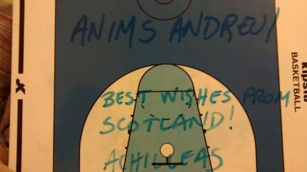 anims Andreu Cervera - Achilleas - entrenador escoces