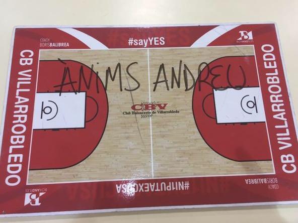 anims Andreu Cervera - Club Baloncesto Villarobledo