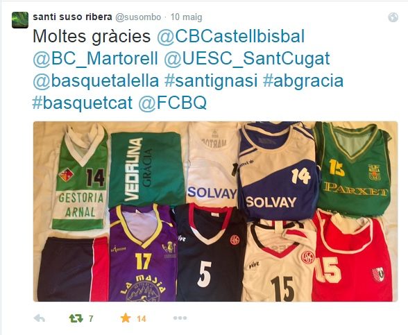 Samarretes Santi Suso comiat twitter