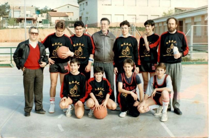 Cadet 1986-1987 foto aportada per jugador Ismael Martinez