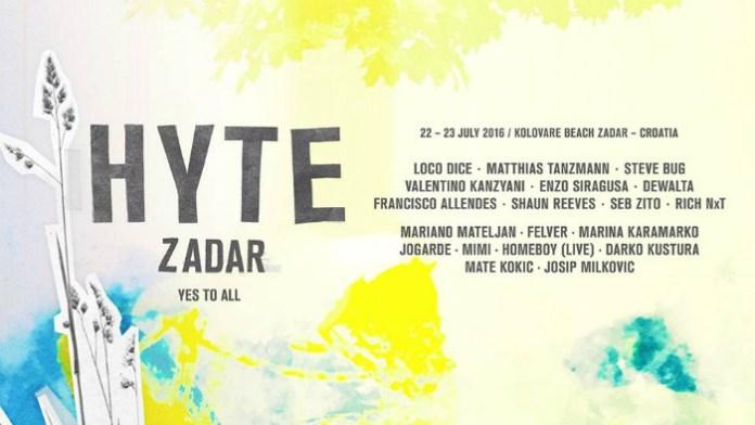 HYTE Zadar line up!