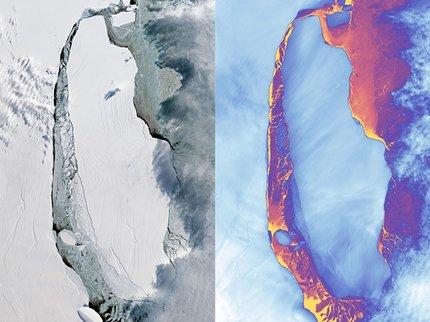 Спутники НАСА получили фото мегаайсберга размером с Эстонию