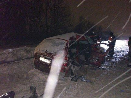 ВУфимском районе вавтоаварии погибли трое, четверо травмированы
