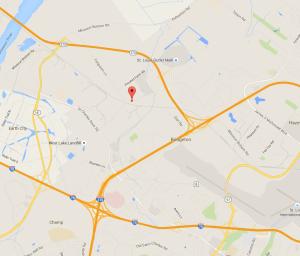 Map to Bridgeton Municipal Athletic Complex