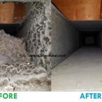 Air Conditioning Duct Cleaning (Before & After)