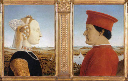 Duke and Duchess of Urbino by Piero della Francesca