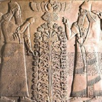 Gryphons dating from before 2000 BCE two of them shown in company with the Sumerian deity Ningishzida Meso Tree of Life 200x200 Ancient Sumerian Anunnaki Gods From the Sky