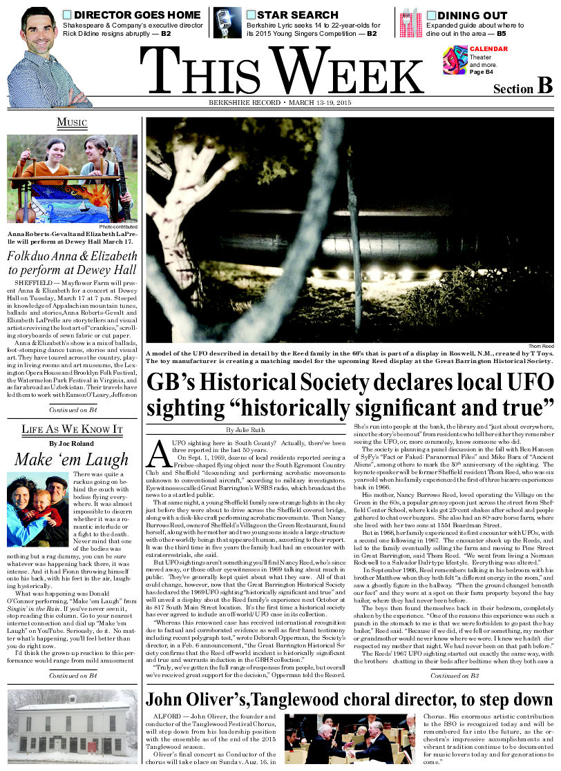 Thomas E Reed Family Abduction UFO Casebook Files