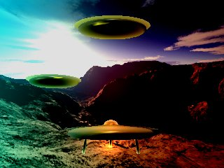 Three Saucers (B J)