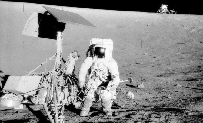 Charles Pete' Conrad On The Moon