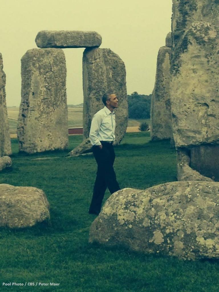 Obamas recent 'surprise' visit to Stonehenge.