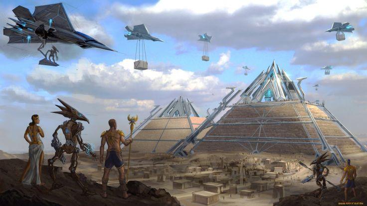¡Algunas personas también creen que puede haber otras Pirámides en otros planetas en el espacio!