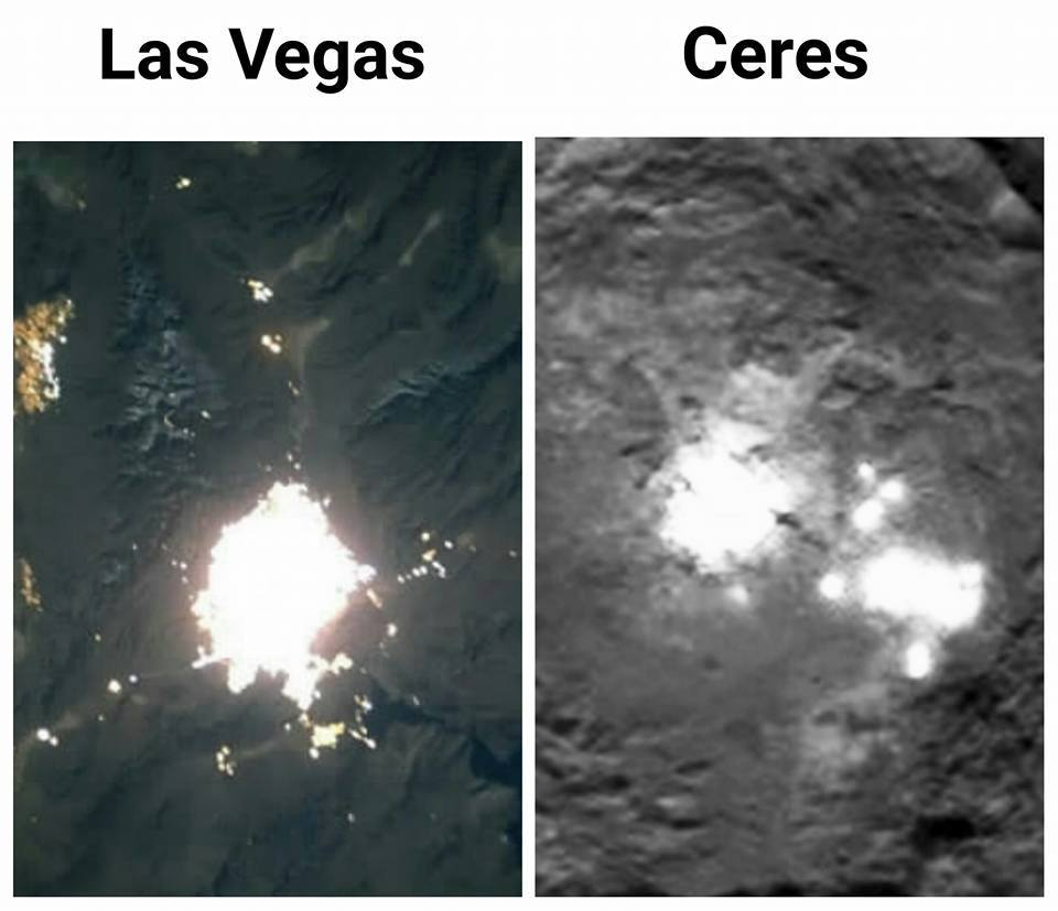 The Lights On Ceres Appear Very Similar To Of A Large City Planet Earth Which Is Surrounded By Nothingness Much Like Las Vegas