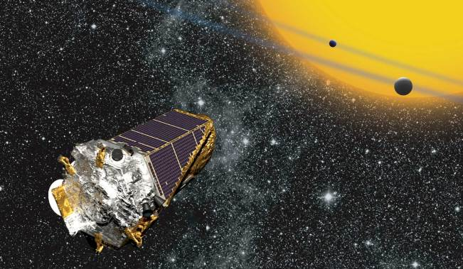An artists impression of the Kepler space telescope
