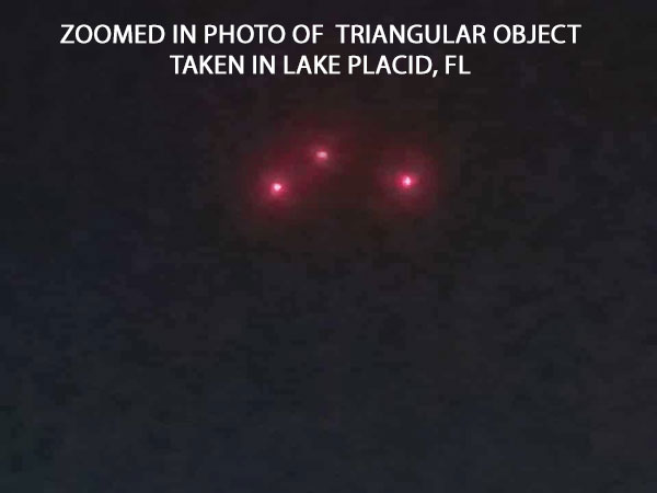 ZOOMED IN PHOTO OF TRIANGULAR OBJECT.